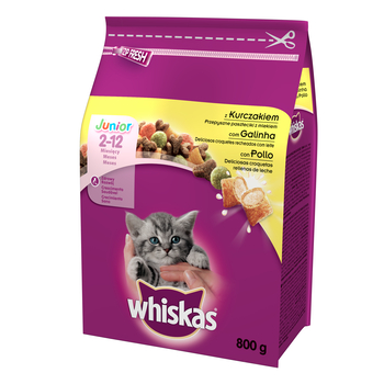 WHISKAS JUNIOR KURCZAK 800G