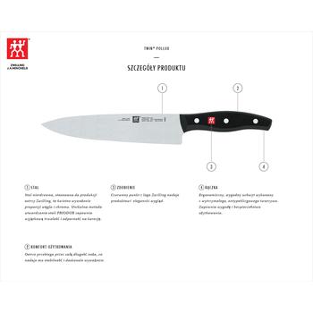 Nóż Szefa Kuchni Zwilling Twin Pollux 20 Cm Selgros24pl