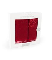 KOMPLET RĘCZNIKÓW ACTIVE 2*AG* /50X100+70X140 - CZERWONY